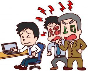 先輩と上司から叱られる画像