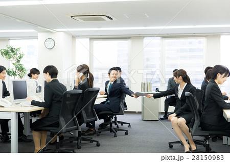 オフィスで働く男女