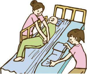 体位変換とベッドメイク