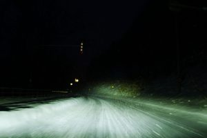 雪道を走る様子