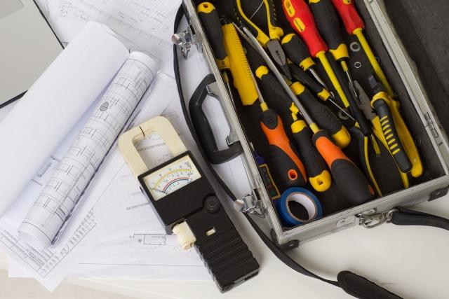 電気工事の工具写真