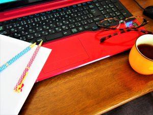 机の上のPC